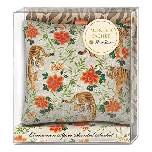 Punch Studio Scented Square Fabric Pillow Sachet (Tigers Square Cinnamon) Pillow Sachet