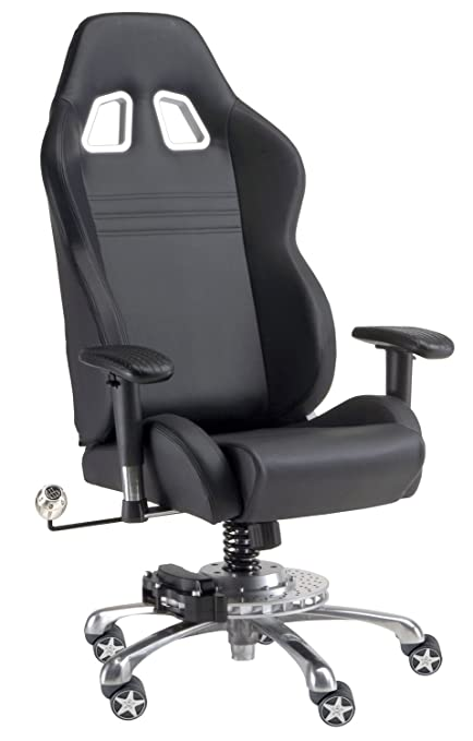 Amazon Com Pitstop Furniture Gp1000b Gt Office Chair Black Automotive