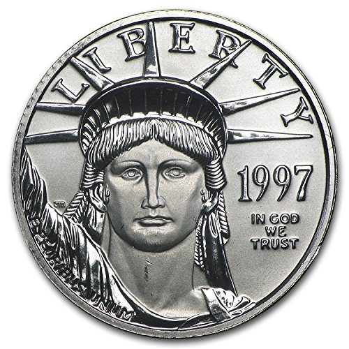 1997 1 4 Oz Platinum American Eagle Bu  1 4  Brilliant Uncirculated