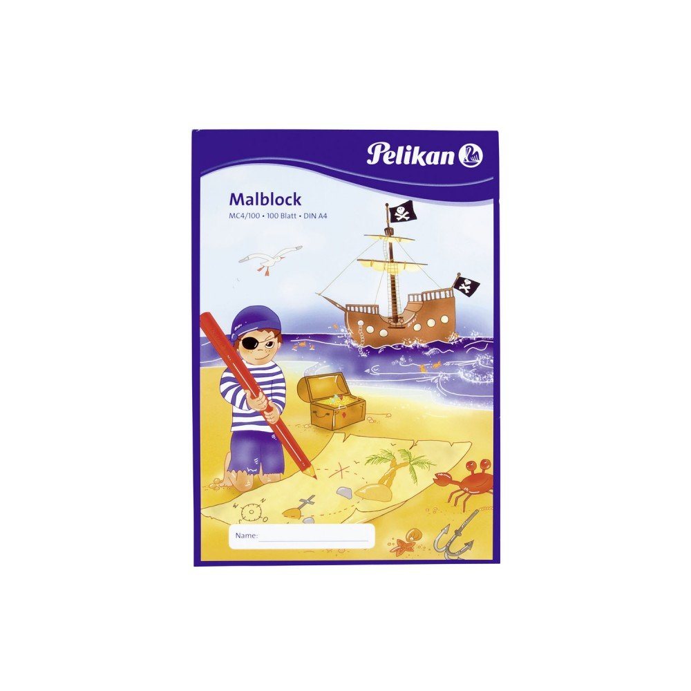 Pelikan Malblock DIN A4 / 100 Blatt VE=1 (Chlorfrei, 70 g/m²) 70 g/m²) Pelikan Büro 137679 129134