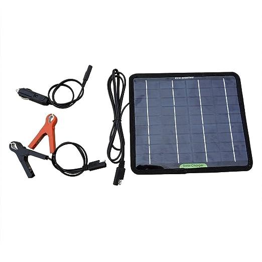 17 opinioni per ECO-WORTHY 5W 12V Caricatore Caricabatterie Solare di Batteria Battery Charger