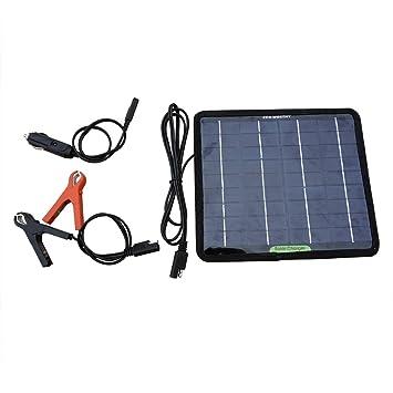 ECO-WORTHY 12V 5 Vatios Potente Cargador de Batería Portátil Panel Solar Para Acampar del Coche del Barco