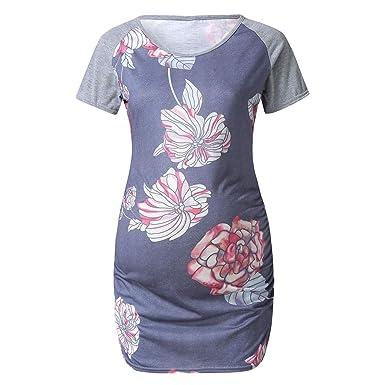 Damen Schwangerschaft Kleidung Elastisch Oberteile Lustig Stillen BLUSE T-Shirt