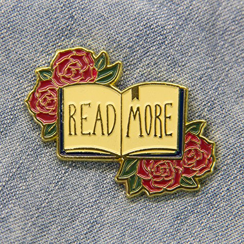 Ectogasm Womens Read More Gold Enamel Pin