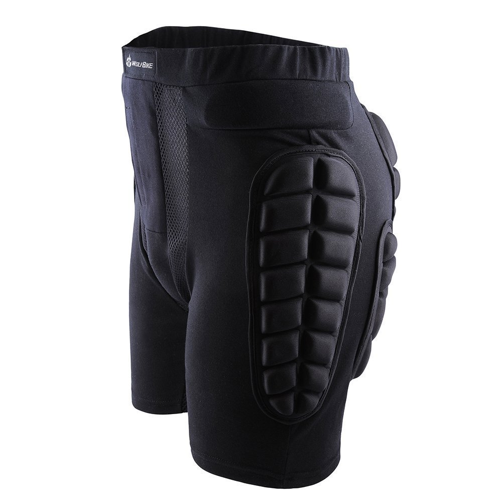 Drop Resistance Roller Compression Thigh Impact Shorts Butt Saver Butt and Tailbone Protector Ski Skate Compression Shorts