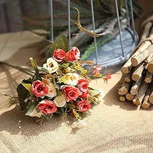 YJYdada Artificial Silk Fake Flowers Roses Floral Wedding Bouquet Bridal Decor 2