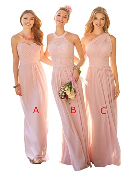 new design clearance prices cozy fresh AlfaBridal Women's Maxi Chiffon Bridesmaid Cocktail Evening ...