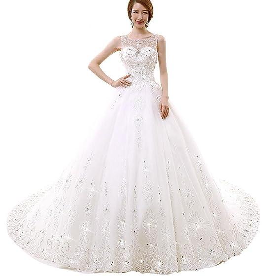 Women\'s Sparkly Ball gown Diamonds Wedding Dress at Amazon Women\'s ...