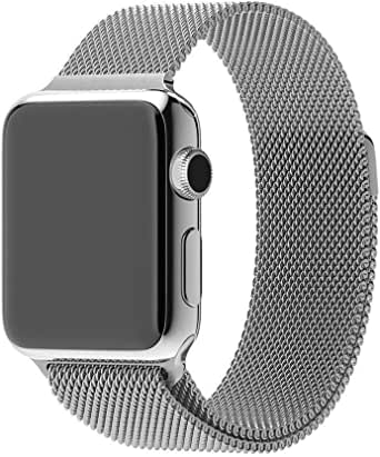 Smart Watch Band 42mm, Fully Magnetic Closure Stainless Steel Bracelet Strap iWatch Band for Smart Watch Series 3, Series 2, Series 1 Sport & Edition - Silver