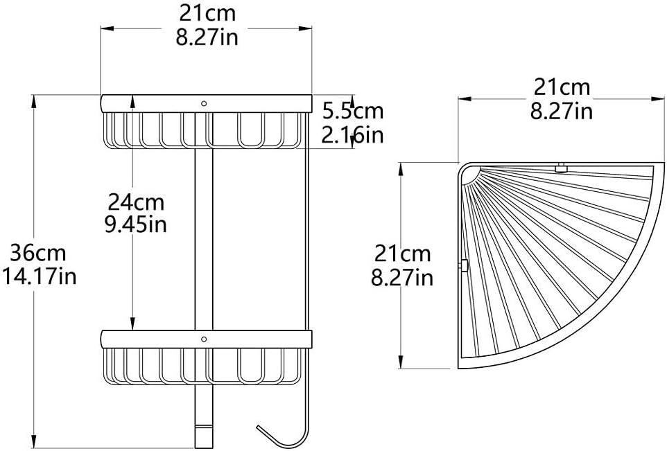 Wsw Beau Tr/épied Europ/éen Double en Laiton Salle De Bains Rack Rack Double Angle Panier Porte-Serviettes /Étag/ère De Salle De Bains Multifonction