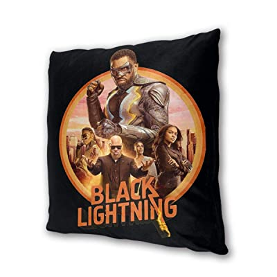 """NOT BRAND Black Lightning Outdoor/Indoor Cushions 18.5""""x 18.5"""", 2 Pieces: Home & Kitchen"""