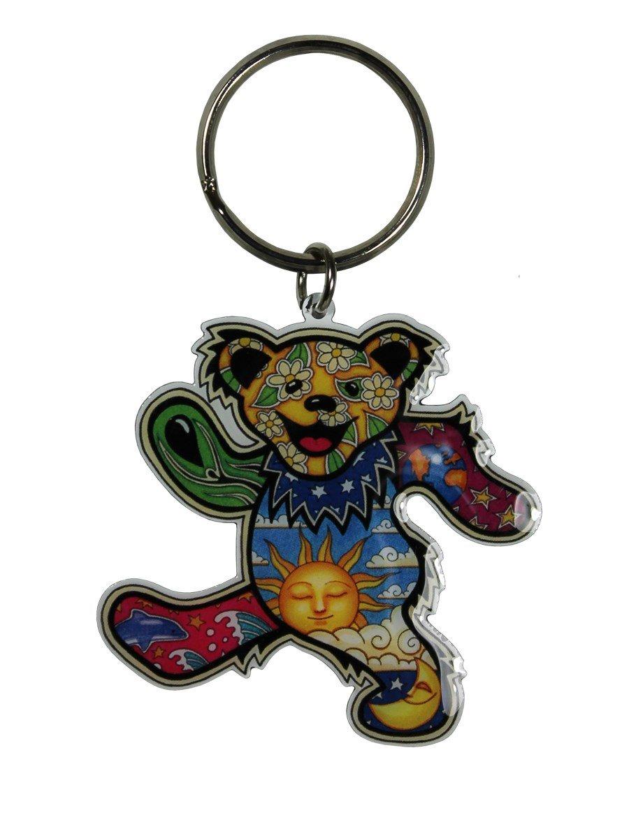 Grateful Dead - Dan Morris Dancing Bear - Metal Keychain CH302