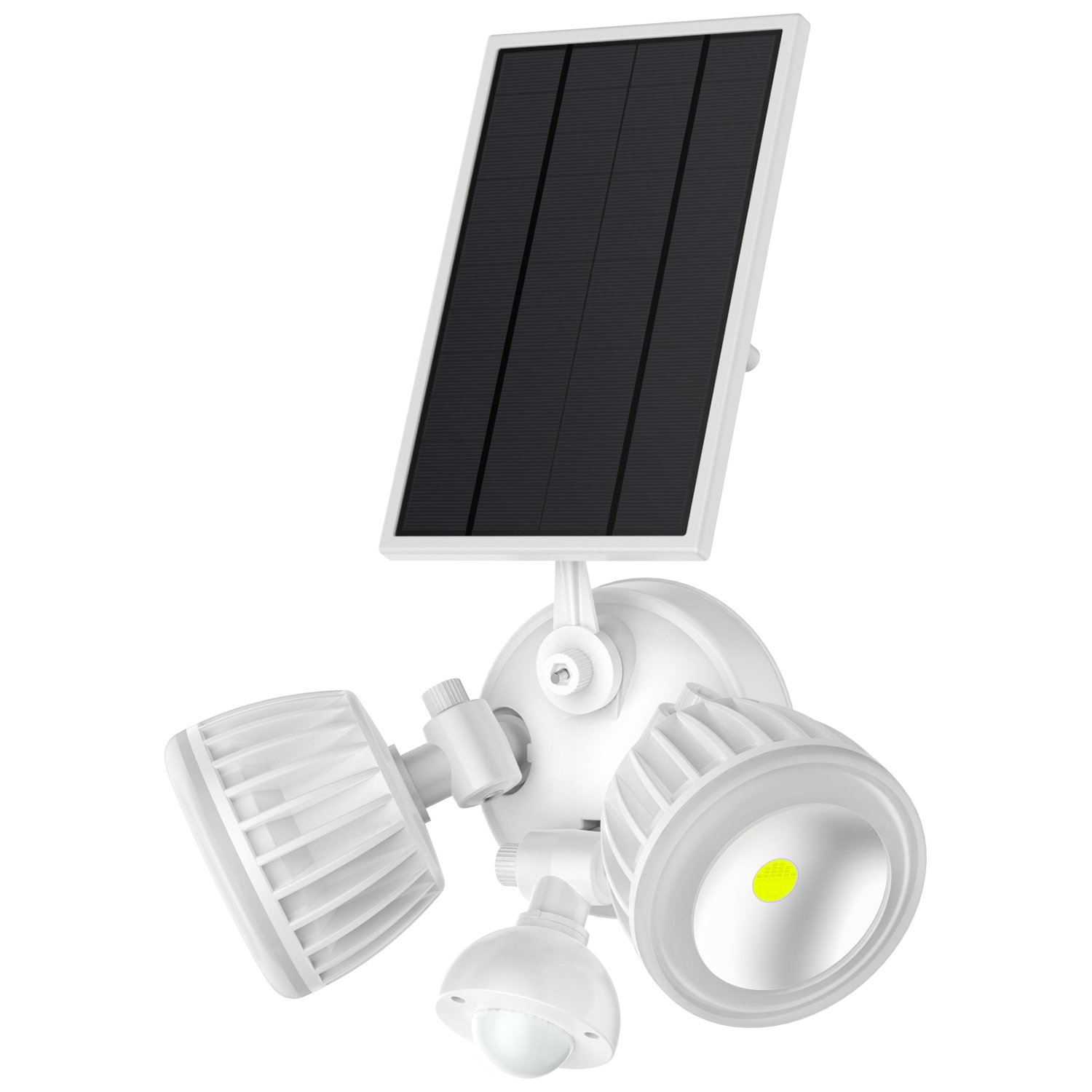 Solar Motion Sensor Light Outdoor,Takusun Adjustable Dual Head 10W COB 1000Lumens IP65 Waterproof Solar Powered LED Security Flood Light for Deck,Patio,Parking Lot,Porch,Garden,Garage,Entryways