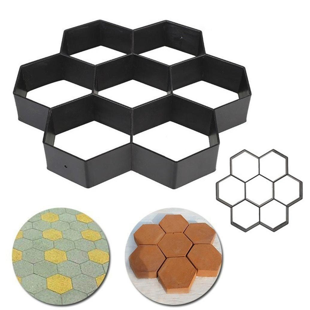 Coerni Premium DIY Reusable Path Maker Mold - Concrete Cement Stone Design Construction Boards, 4 Pattern for Pavement Patio Walkway (G=11.8x 11.8'')