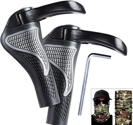 PROZADALAN Puños para Bicicletas con Máscara de Camuflaje, Mango ...