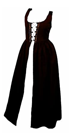 Faire Lady Designs Womenu0027s Renaissance Costume Irish Over Dress Dark Brown (2XL - Bust  sc 1 st  Amazon.com : womens renaissance costume  - Germanpascual.Com