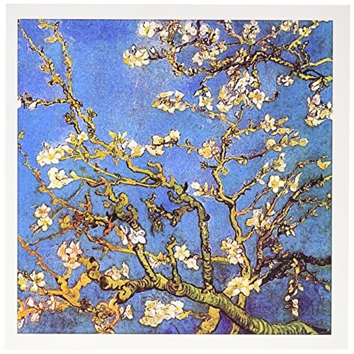 - 3dRose Almond Blossoms by Vincent van Gogh 1890 - famous fine art by masters - Greeting Cards, 6 x 6 inches, set of 12 (gc_155639_2)
