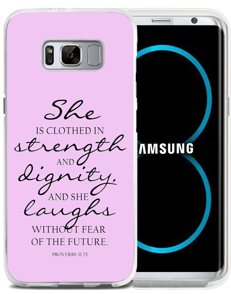 Case for S8 Bible Verse Pink - CCLOT Samsung Galaxy S8