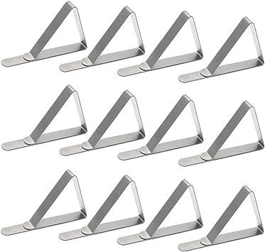 abrazaderas para mantel de mesa Pinzas de acero inoxidable para mantel 8 unidades para uso en exteriores