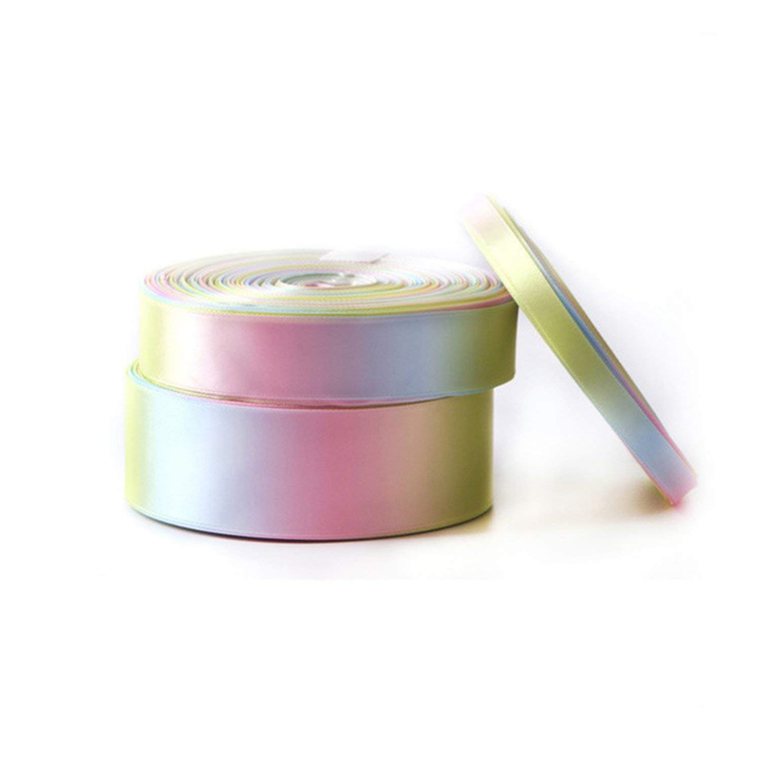 Party Streamers Rainbow Ribbon Printed Polyester Satin Ribbons Handmade Materials,50mm by AYO-LE streamers (Image #5)
