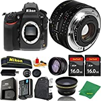Great Value Bundle for D810 DSLR – 50MM 1.8D + 2PCS 16GB Memory + Wide Angle + Telephoto Lens + Backpack