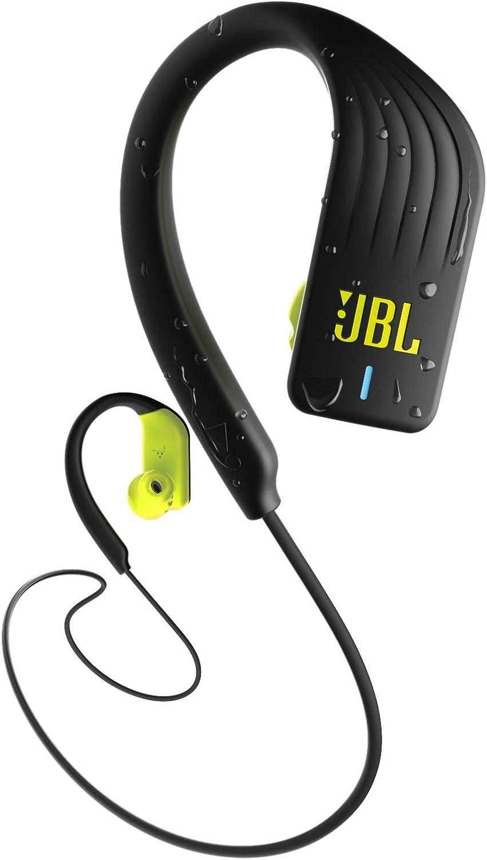JBL Endurance Sprint – Auriculares Inalámbricos Deportivos In Ear con controles táctiles, Resistente al agua (IPX7), Manos libres, Bluetooth 4.2, Color Negro, Amarillo