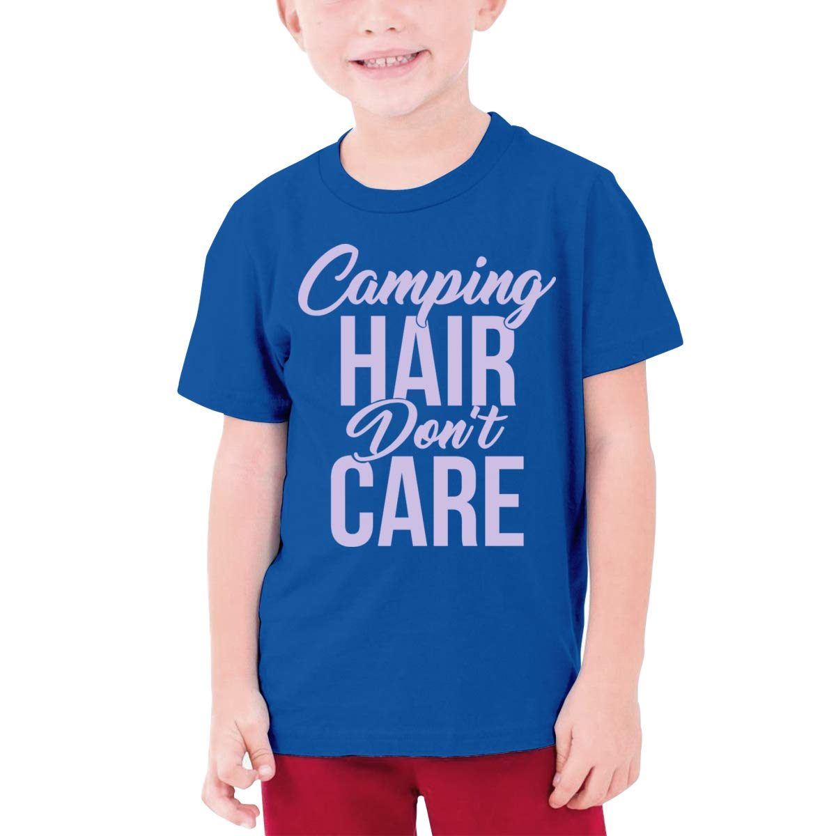Fzjy Wnx Camping Hair Dont Care Boy Short-Sleeved T-Shirts