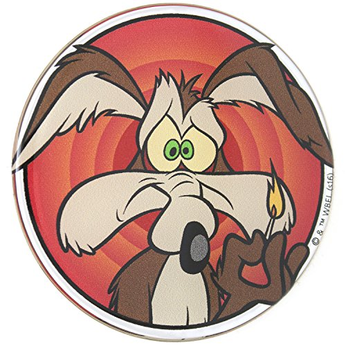 Fan Emblems Looney Tunes Wile E. Coyote Car Sticker Domed/Multicolor/Chrome Finish, Automotive Emblem Decal Easily Applies to Cars, Trucks, Motorcycles, Laptops, Cellphones, Windows, Almost Anything (Best Motorcycle Jacket Australia)