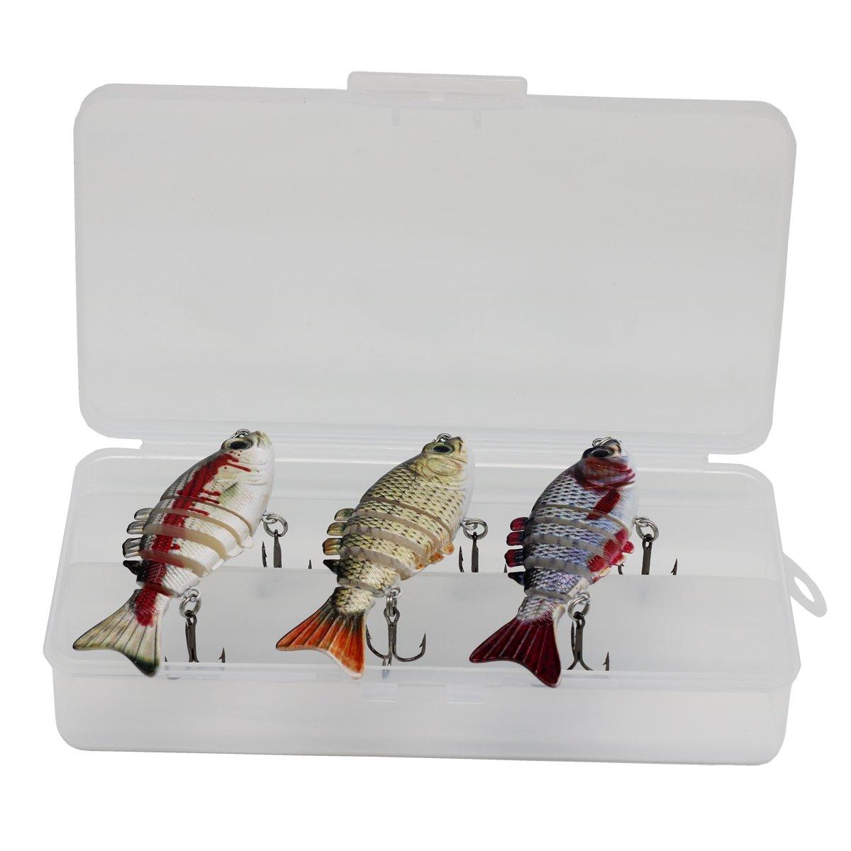 Modenpeak WP-6S3P Multi Jointed Fishing Hard Lure Bait Swimbait Life-Like(3PS)