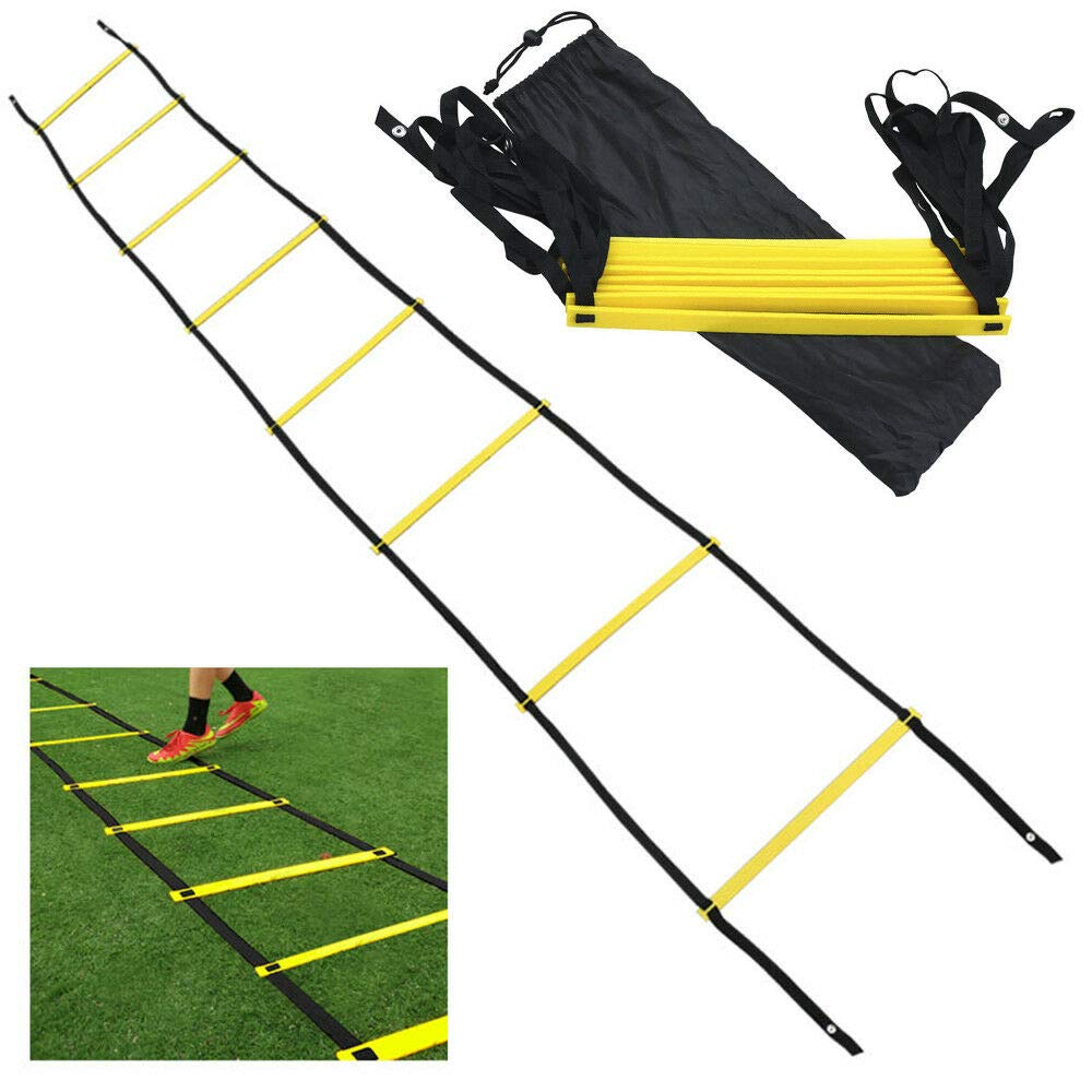 Miracle9 8 Rung Agility Speed Training Ladder Footwork Fitness Football Workout Exercise