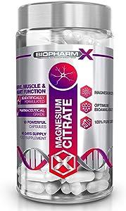 500mg Magnesium Citrate (60 Capsules / 1 Per Day) Premium Grade / 100% Pure Certified, Maximum Strength