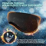 Lauzq Fleece Ear Warmers/Muffs Headband for Men