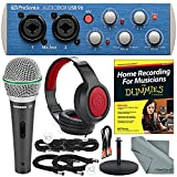 PreSonus AudioBox USB 96 2x2 USB 2.0 Recording System with Studio One Software + Home Recording for Musicians for Dummies and Platinum Studio Bundle