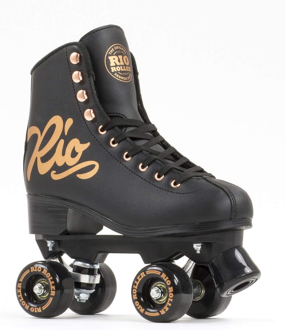 Rio Roller Rose Quad/Roller Skates- Black / UK
