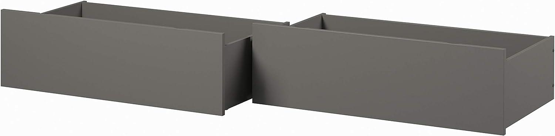 Atlantic Furniture Urban Bed Drawers (Set of 2), Queen/King, Grey