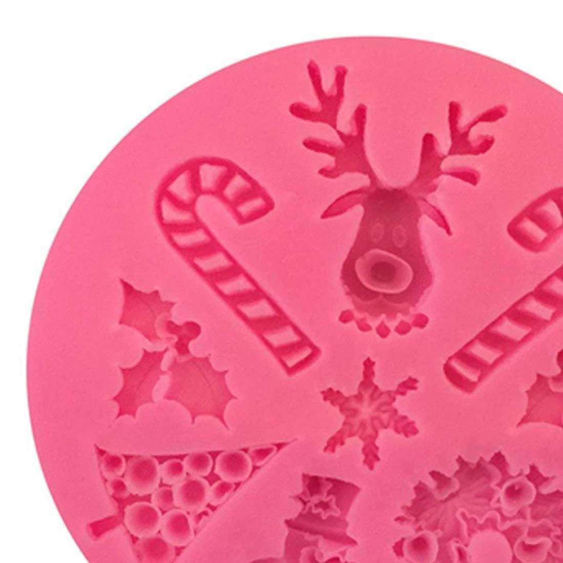 Amazon.com: Cake Molds - Christmas Elk Shaped Cake Mold Silicone Snow Fondant Sugar Craft Decorating Snowman - Numbers Cake Heart Circle Baby Shape Alphabet ...