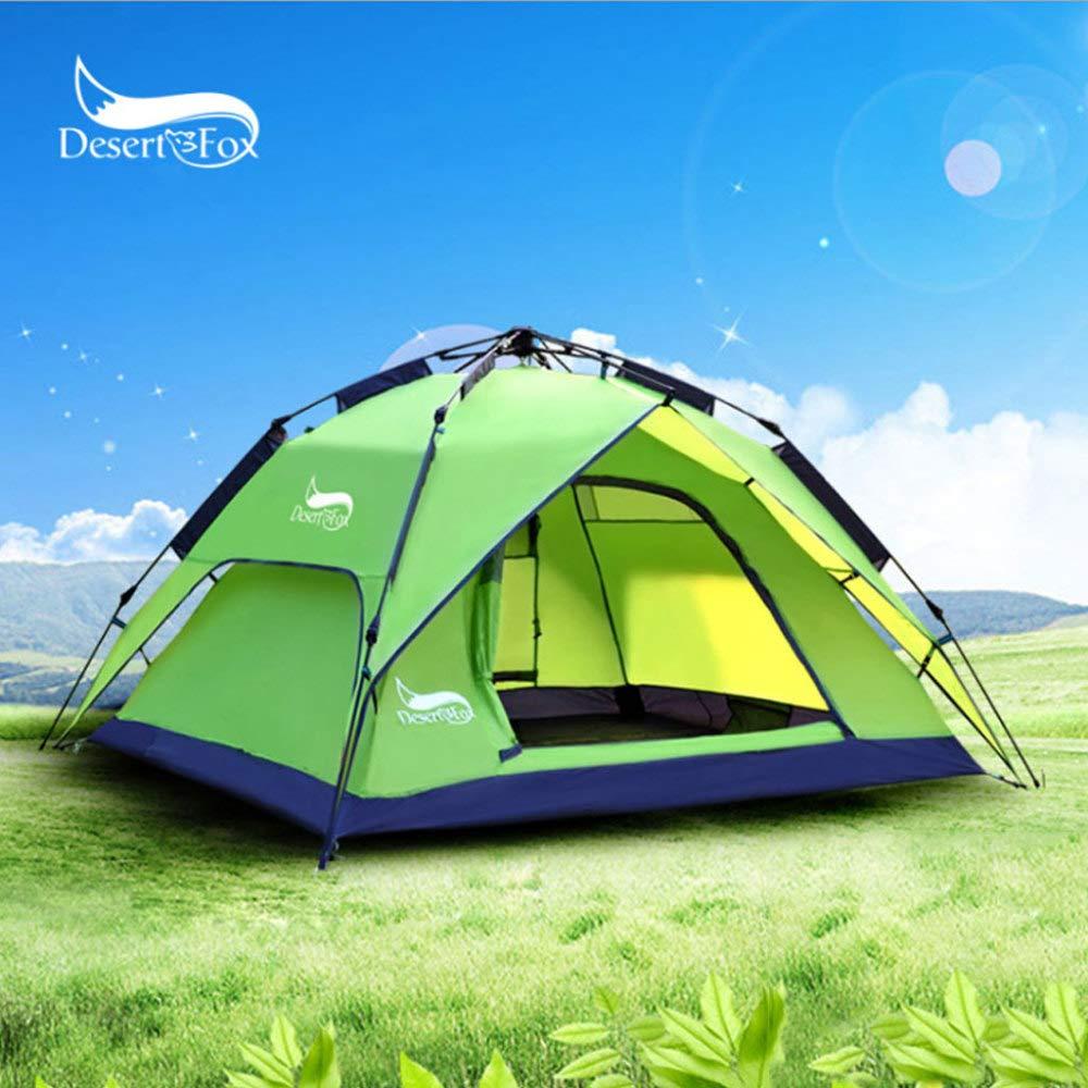 Desert Fox Outdoor-Camping-Zelt Für 3-4 Personen, Pop-up Wasserdichtes Langlebiges Reisezelt Mit Tragetasche,Grün