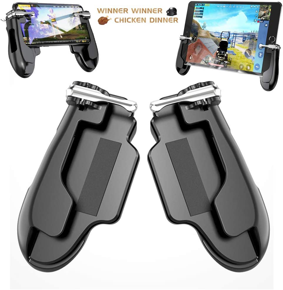 Game Controller for iPad PUBG Mobile Game Controller Cellphone Trigger Switches for PUBG/Knives Out Gaming Controller Shooter L1R1 Trigger Fire Button Aim Key Gamepad for Tablet/Android/iOS/iPhone