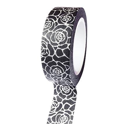 Vestido mi Cupcake dmc41wt637 Washi cinta decorativa para regalos y Regalos, Vintage negro rosa