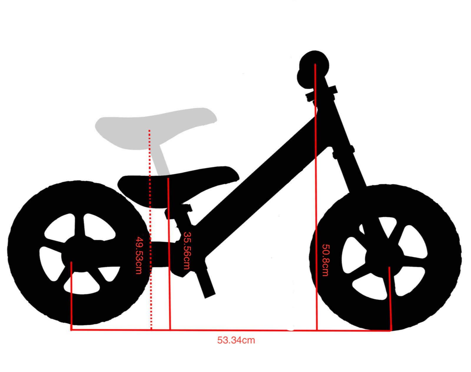 CyclingDeal Alloy Kids Push Balance No-Pedal Bike 12'' Black by CyclingDeal (Image #6)