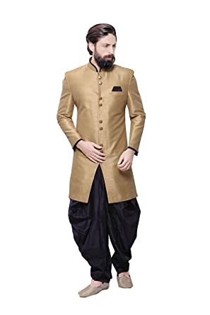 045a3bfb0fa Readymade Indian Wedding Sherwani Set for Men Marriage Party wear Outfit  Ethnic Traditional Dress in Brown
