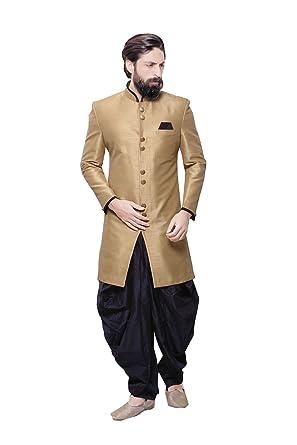 772a768bc594c Amazon.com: Da Facioun Indian Sherwani for Men Readymade Designer Partywear  for Wedding Exclusive Fashion Indo-Western Dress: Clothing