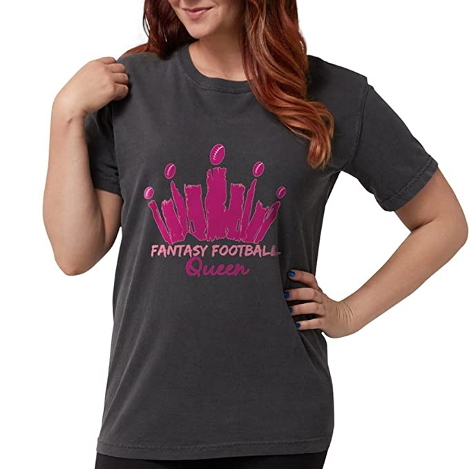 6e376fa095 Image Unavailable. Image not available for. Color: CafePress - Fantasy  Football Queen T-Shirt - Womens ...