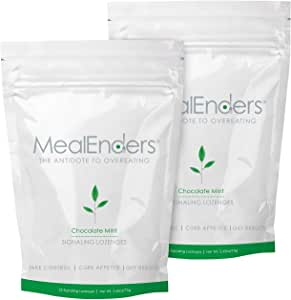 MealEnders Cravings Control Lozenges | Stop Overeating, Curb Cravings and Reduce Snacking | 25-Count Bag (2-Pack) (2X Chocolate Mint)