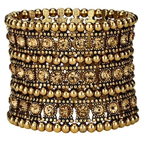 Angel Jewelry Women's Multilayer Crystal Stretch Bracelet 3 Row