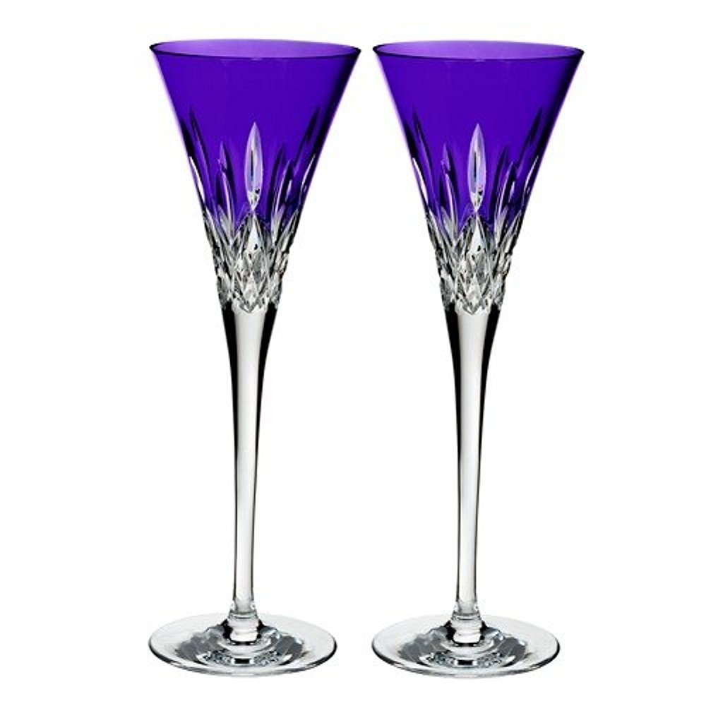 Waterford Set of 2 Lismore Pops Toasting Flutes