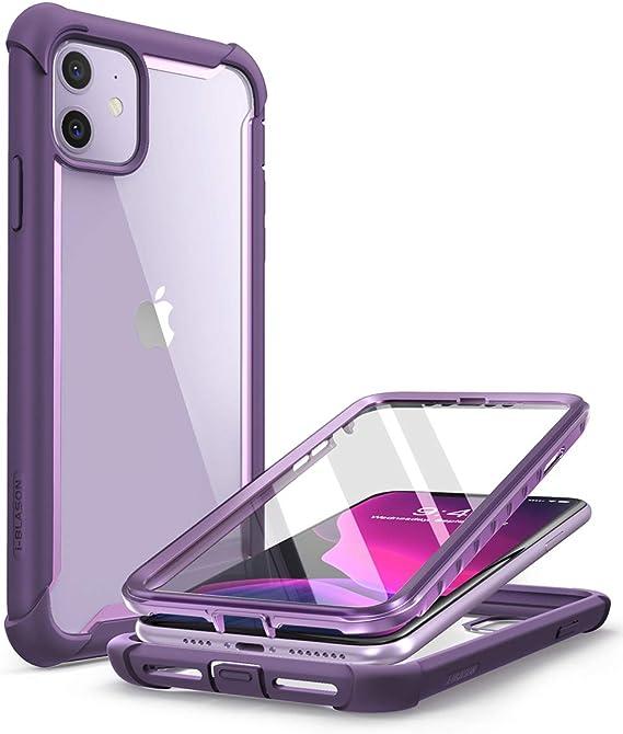 i-Blason Coque iPhone 11, Coque Intégrale Anti-Choc Bumper avec Dos Transparent et Protecteur d'écran Intégré [Série Ares] pour iPhone 11 6.1'' 2019 ...