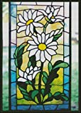 """Goldmilky Cross Stitch Kit Stained Glass White Flowers in Spring 12 X 16"""""""