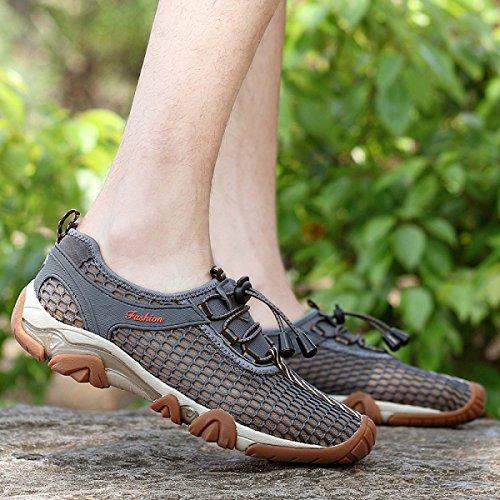 Libre Sandalia Verano Secado Al Malla Caminar Lxxamens Deportivo Fijar Calzado Para Gray Transpirable De Fácil Rápido Aire Zapatos Atléticos twgxpS