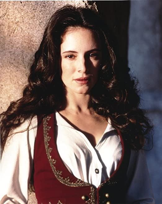 Amazon.com: Madeleine Stowe Posed in White Dress with Red Vest Photo Print  (8 x 10): Home & Kitchen